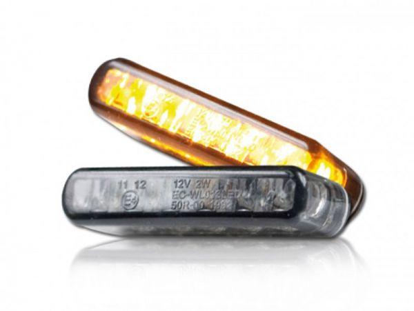 Los indicadores incorporados del LED de rayas se tiñen