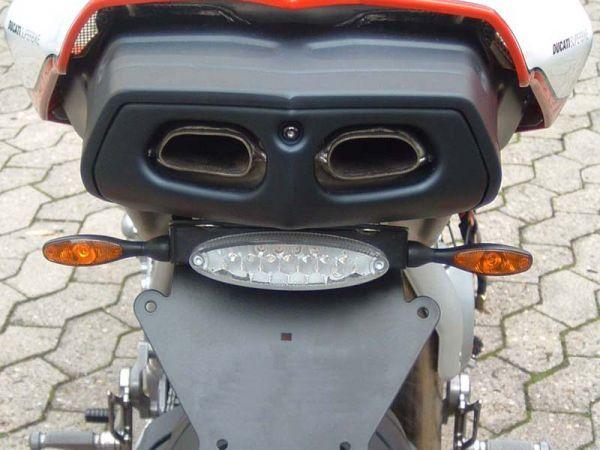 Support de plaque d'immatriculation pour Ducati 749 999 (toutes années de fabrication) feu arrière clair