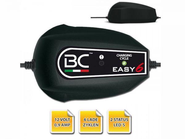 Batterieladegerät BC Easy6, (12 Volt), Ladestrom: 0,9A Batteriekapazität 1,2-100AH