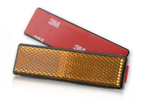 Reflector Classic rectangular yellow self-adhesive
