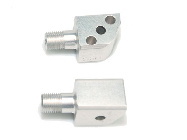 Pillion footrest joint set 050050110-1 silver