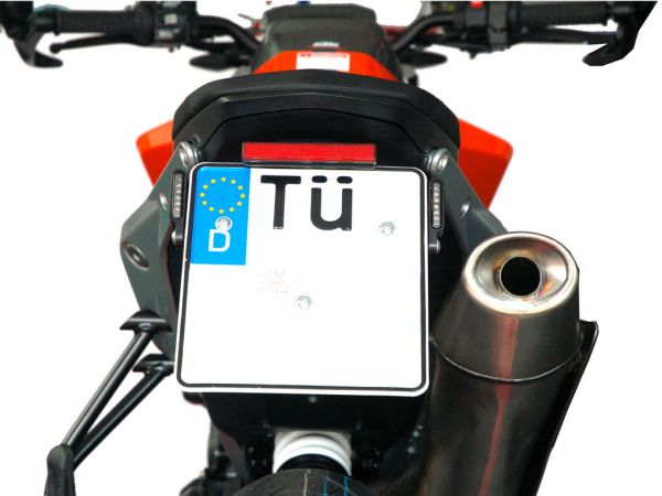 License plate holder IQ4VB for KTM 790 | 890 (2018-2021) with rear light indicator