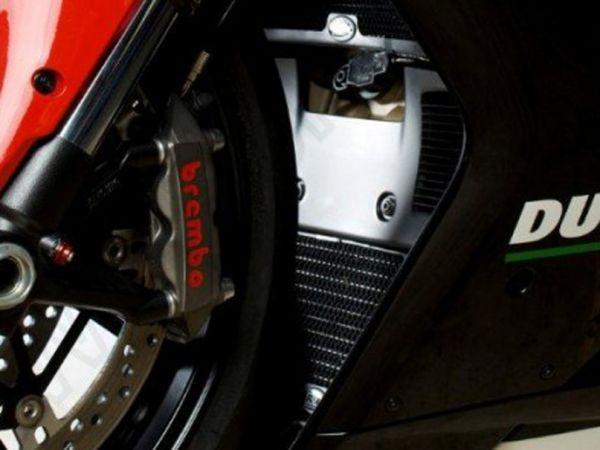 Kühlergitter Set Wasser und Öl schwarz für Ducati 848 1098 1198
