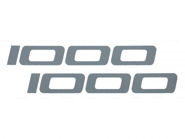 Sticker rim well sticker 1000 colour silver