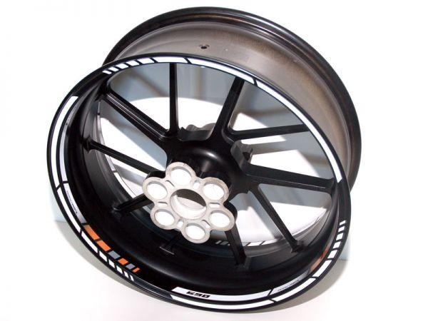 Rim well sticker NEW GP RACE for KTM Super Duke 690 orange-white-black