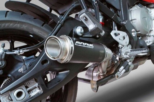 BODIS GPC-RS II para BMW S1000XR (2015-2019) acero inoxidable negro