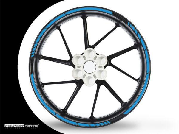 Adesivo bordo cerchio GP Race blu