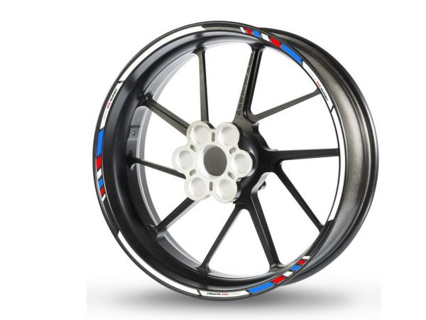Rim edge sticker GP Race white-blue-red