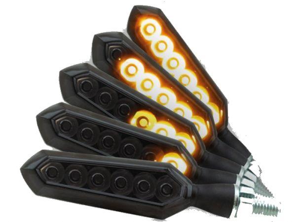 Luz de marcha Indicador LED SNIPER con efecto de marcha secuencial